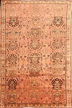 "Qashqai Red Hand Knotted 5'7"" X 8'2""  Area Rug 100-24576"