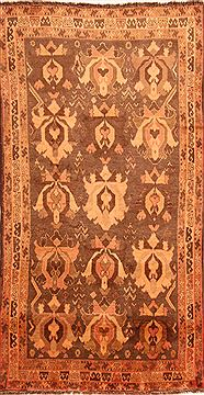 "Gabbeh Brown Hand Knotted 4'1"" X 7'5""  Area Rug 100-24632"