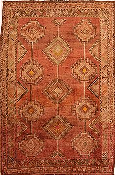Persian Gabbeh Red Rectangle 5x7 ft Wool Carpet 24644