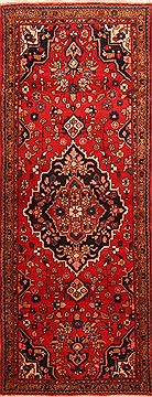 "Shahsavan Red Runner Hand Knotted 3'7"" X 9'4""  Area Rug 100-24709"