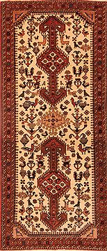 Persian Abadeh Beige Runner 6 ft and Smaller Wool Carpet 24713