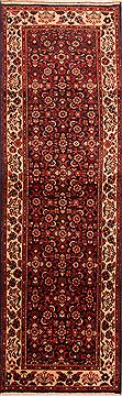 "Zanjan Red Runner Hand Knotted 3'3"" X 10'5""  Area Rug 100-24718"