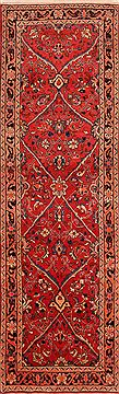 "Mahal Red Runner Hand Knotted 3'5"" X 11'3""  Area Rug 100-24722"