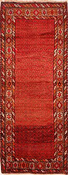 "Karabakh Red Runner Hand Knotted 4'0"" X 9'11""  Area Rug 100-24738"