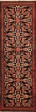 "Mahal Blue Runner Hand Knotted 3'6"" X 10'6""  Area Rug 100-24768"