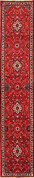 "Rudbar Red Runner Hand Knotted 2'9"" X 13'8""  Area Rug 100-24799"