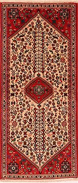 Persian Abadeh Red Runner 6 ft and Smaller Wool Carpet 24803