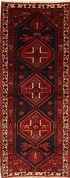"Shahsavan Brown Runner Hand Knotted 3'6"" X 9'1""  Area Rug 100-24813"