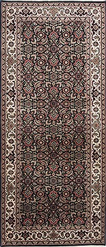 Indian Herati Black Rectangle 3x5 ft Wool Carpet 24875