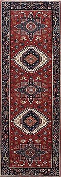 "Karajeh Brown Runner Hand Knotted 2'1"" X 5'11""  Area Rug 250-24926"