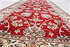 Isfahan Red Runner Hand Knotted 27 X 62  Area Rug 250-24985 Thumb 3