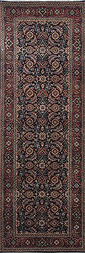 Indian Herati Green Runner 6 ft and Smaller Wool Carpet 24987