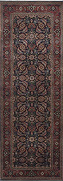 Indian Herati Green Runner 6 ft and Smaller Wool Carpet 24995