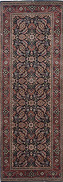 Indian Herati Green Runner 6 ft and Smaller Wool Carpet 25001