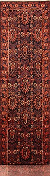 "Zanjan Red Runner Hand Knotted 3'6"" X 16'5""  Area Rug 100-25074"