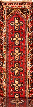 Turkish Yalameh Red Runner 13 to 15 ft Wool Carpet 25088
