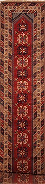 "Yalameh Red Runner Hand Knotted 2'11"" X 15'0""  Area Rug 100-25108"