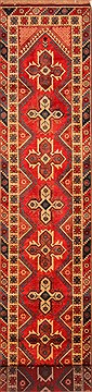 Turkish Yalameh Red Runner 16 to 20 ft Wool Carpet 25115