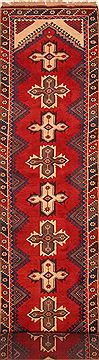 "Yalameh Red Runner Hand Knotted 3'1"" X 15'4""  Area Rug 100-25119"