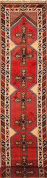 "Yalameh Red Runner Hand Knotted 3'0"" X 14'10""  Area Rug 100-25126"