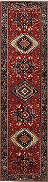 "Karajeh Blue Runner Hand Knotted 2'1"" X 7'8""  Area Rug 250-25128"