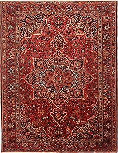 Persian Bakhtiar Red Rectangle 10x13 ft Wool Carpet 25132