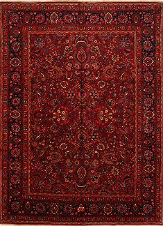 Persian Mashad Red Rectangle 10x13 ft Wool Carpet 25143