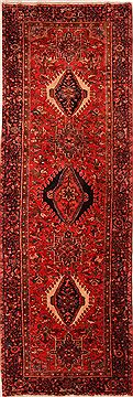 Persian Karajeh Red Runner 13 to 15 ft Wool Carpet 25148