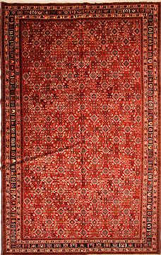 "Qashqai Red Hand Knotted 10'0"" X 16'1""  Area Rug 100-25180"