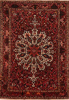 "Bakhtiar Red Hand Knotted 10'6"" X 15'0""  Area Rug 100-25203"