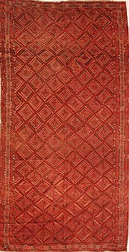 "Bidjar Red Hand Knotted 7'4"" X 13'11""  Area Rug 100-25222"