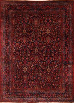"Kerman Red Hand Knotted 9'7"" X 13'1""  Area Rug 100-25228"