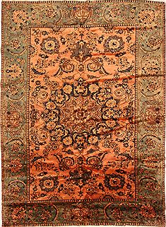 Persian Bakhtiar Multicolor Rectangle 7x10 ft Wool Carpet 25230