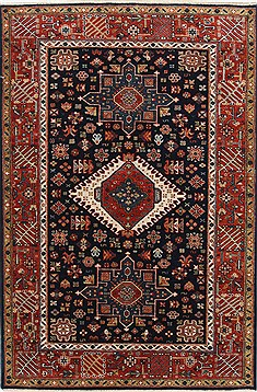 "Karajeh Brown Hand Knotted 4'1"" X 6'2""  Area Rug 250-25239"