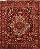 Bakhtiar Red Hand Knotted 100 X 120  Area Rug 100-25243 Thumb 0