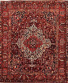 "Bakhtiar Red Hand Knotted 10'0"" X 12'0""  Area Rug 100-25243"