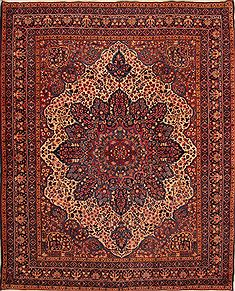 "Kerman Red Hand Knotted 11'2"" X 14'1""  Area Rug 100-25246"