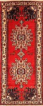 "Shahsavan Red Runner Hand Knotted 5'2"" X 12'7""  Area Rug 100-25266"