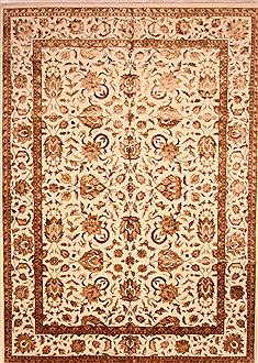 "Kashan White Hand Knotted 10'0"" X 14'5""  Area Rug 100-25296"