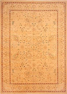 "Agra Beige Hand Knotted 10'3"" X 14'3""  Area Rug 100-25304"