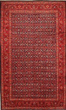 "Mahal Red Hand Knotted 9'7"" X 15'9""  Area Rug 100-25305"