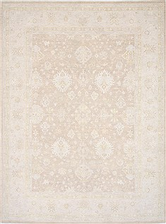 Pakistani Chobi Beige Rectangle 9x12 ft Wool Carpet 25330