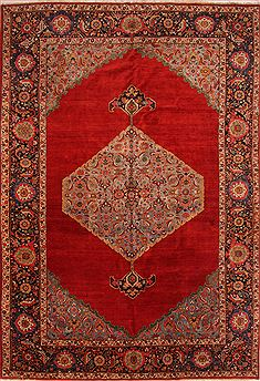 "Khoy Red Hand Knotted 11'0"" X 15'9""  Area Rug 100-25338"