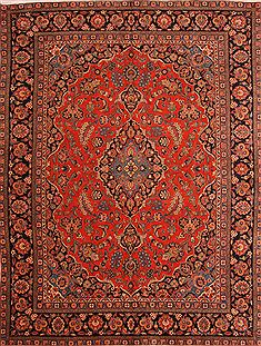 "Kashan Red Hand Knotted 10'1"" X 13'4""  Area Rug 100-25344"