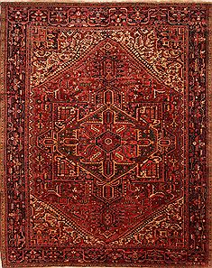 "Heriz Red Hand Knotted 10'9"" X 13'4""  Area Rug 100-25443"