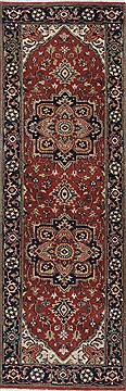 Indian Serapi Green Runner 6 ft and Smaller Wool Carpet 25453