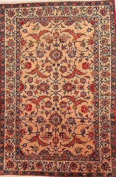 Persian Bakhtiar Beige Rectangle 7x10 ft Wool Carpet 25516