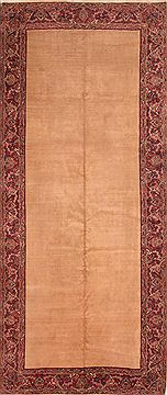 "Kerman Beige Hand Knotted 6'5"" X 15'4""  Area Rug 100-25517"