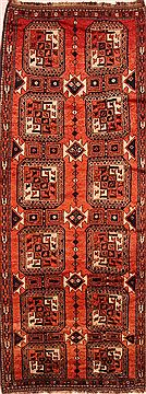 Afghan Kurdi Orange Runner 10 to 12 ft Wool Carpet 25542