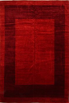 "Gabbeh Red Hand Knotted 11'3"" X 16'8""  Area Rug 100-25563"